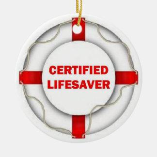 Certified Lifesaver Ceramic Ornament