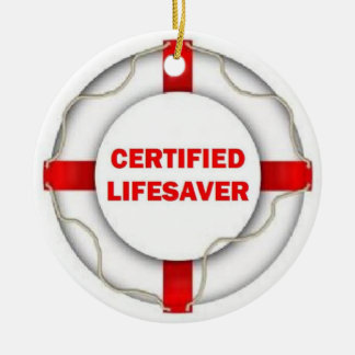 Certified Lifesaver Christmas Tree Ornaments