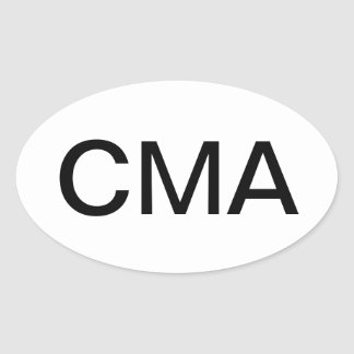 Certified Medical Assistant Oval Sticker