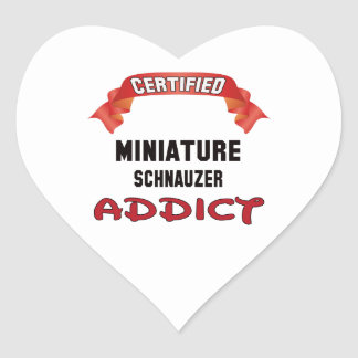 Certified Miniature Schnauzer Addict Heart Sticker