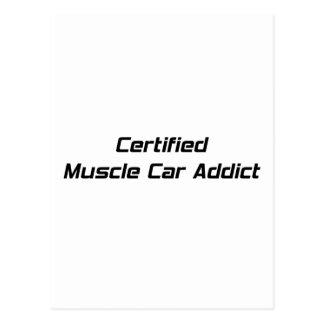 Certified Muscle Car Addict By Gear4gearheads Postcard