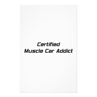 Certified Muscle Car Addict By Gear4gearheads Stationery