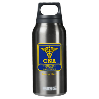 Certified Nurse Assistant Shield Insulated Water Bottle