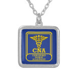 Certified Nurse Assistant Shield Personalized Necklace