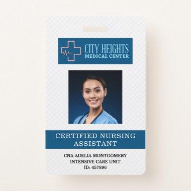 Certified Nursing Assistant CNA Name Photo ID Logo Badge