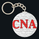 "Certified nursing assistant keychain<br><div class=""desc"">Red CNA keychain. A great gift to show your appreciation of your favorite nursing assistant!</div>"