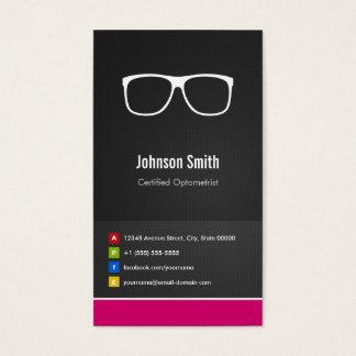 Certified Optometrist Optical Creative Innovative Business Card