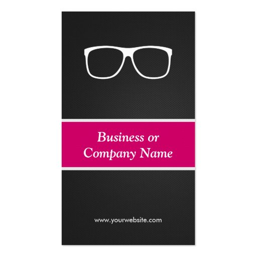 Certified Optometrist Optical Creative Innovative Business Cards (back side)