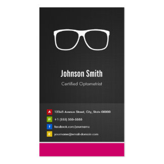 Certified Optometrist Optical Creative Innovative Double-Sided Standard Business Cards (Pack Of 100)