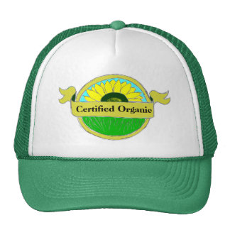 Certified Organic Seal on your Mesh Hat