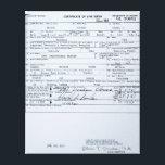 "Certified Original Barack Obama Birth Certificate Canvas Print<br><div class=""desc"">.</div>"