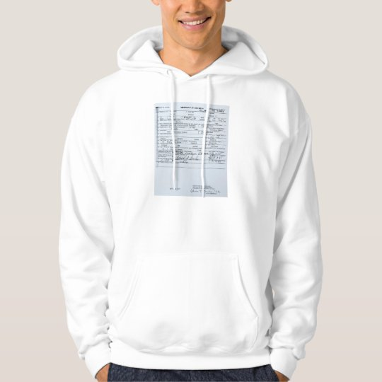 Certified Original Barack Obama Birth Certificate Hoodie