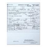 Certified Original Barack Obama Birth Certificate Invitation