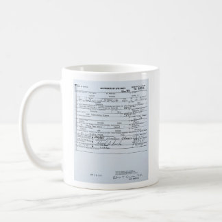 Certified Original Barack Obama Birth Certificate Classic White Coffee Mug