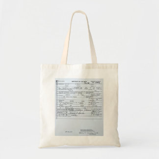 Certified Original Barack Obama Birth Certificate Tote Bag