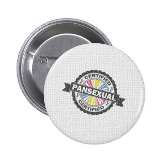 Certified Pansexual Stamp Pinback Button