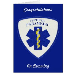 Certified Paramedic Custom Greeting card