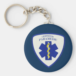 Certified Paramedic Basic Round Button Keychain