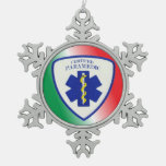 Certified Paramedic Pewter Snowflake Ornament