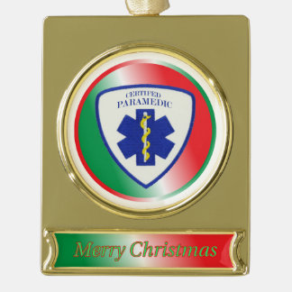 Certified Paramedic Star Christmas Ornament