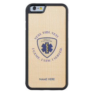 Certified Paramedic Star Maple iPhone 6 Case Carved® Maple iPhone 6 Bumper