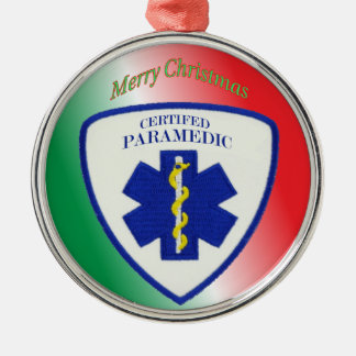 Certified Paramedic Star of Life Metal Ornament