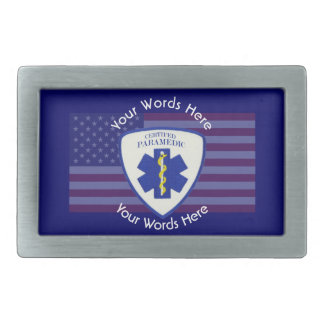Certified Paramedic Star Of Life Shield Belt Buckle
