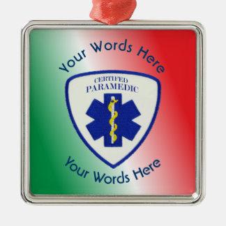 Certified Paramedic Star Of Life Shield Metal Ornament