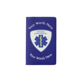 Certified Paramedic Star Of Life Shield Pocket Moleskine Notebook