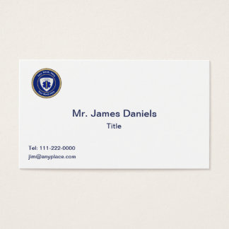 Certified Paramedic Star of Life Universal Business Card