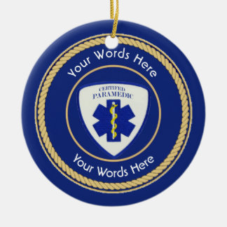 Certified Paramedic Star of Life Universal Ceramic Ornament