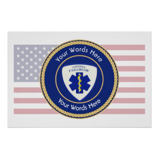 Certified Paramedic Star of Life Universal Poster