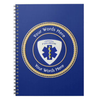 Certified Paramedic Star of Life Universal Spiral Notebook