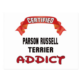 Certified Parson Russell Terrier Addict Postcard