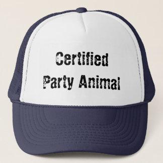 certified party animal trucker hat
