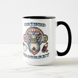 CERTIFIED PENMONKEY -- Coffee Mug