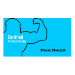 Certified Personal Trainer Business Blue Card Business Card Templates