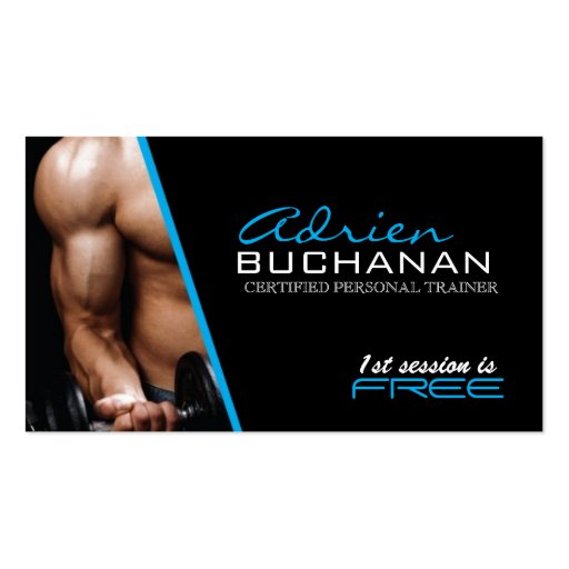 Certified Personal Trainer Business Cards
