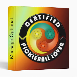 Certified Pickleball Lover 1 Binder Options