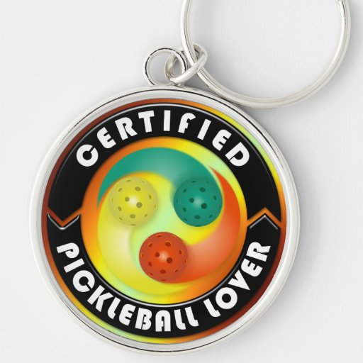 Certified Pickleball Lover 1 Keychain Options