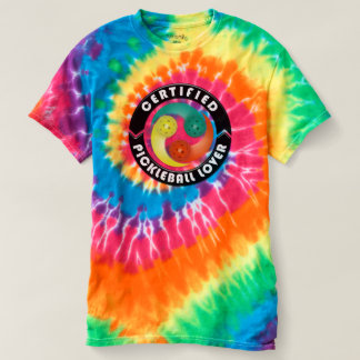 Certified Pickleball Lover 1 Spiral TieDye T-Shirt