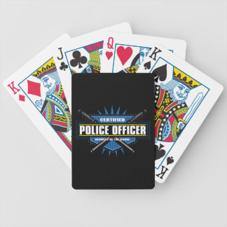 Certified Police Officer Bicycle Playing Cards