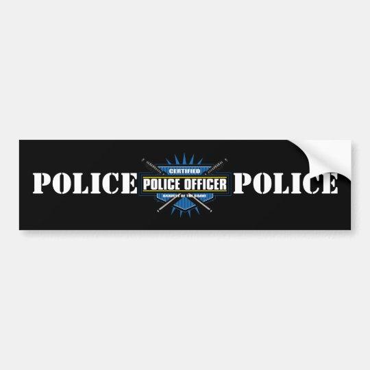 Certified Police Officer Bumper Sticker