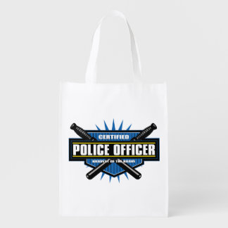 Certified Police Officer Grocery Bag