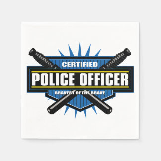Certified Police Officer Paper Napkin