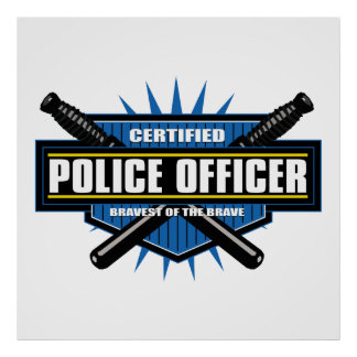 Certified Police Officer Poster
