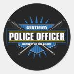 Certified Police Officer Round Sticker