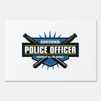 Certified Police Officer Sign