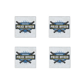 Certified Police Officer Stone Magnet