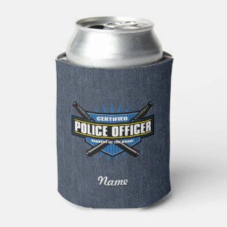 Certified Police Officer Can Cooler